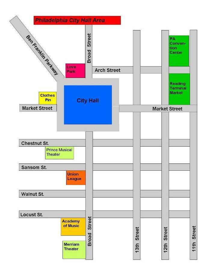 Philadelphia's Labyrinth: Navigating The Often Confusing ... |Philadelphia City Hall Map